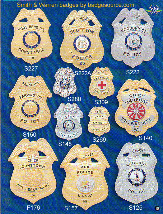sheriff & security badges