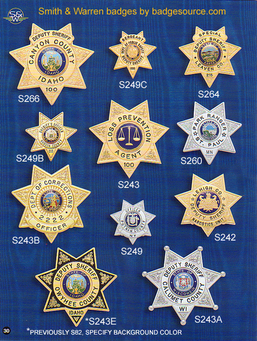 7 point star badges
