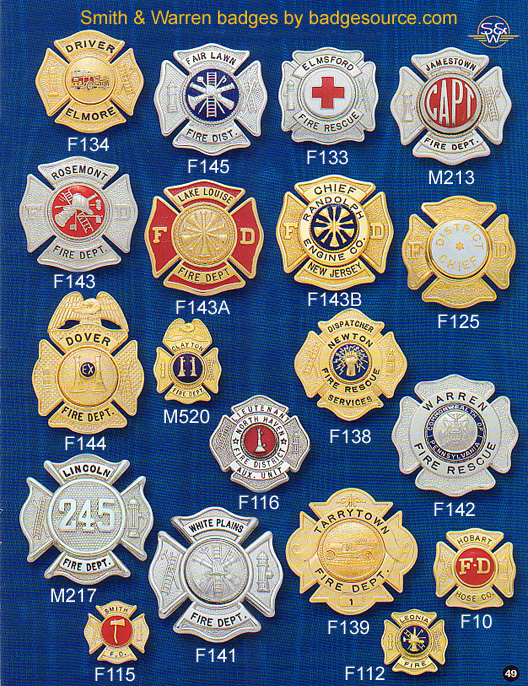 Fire service badges