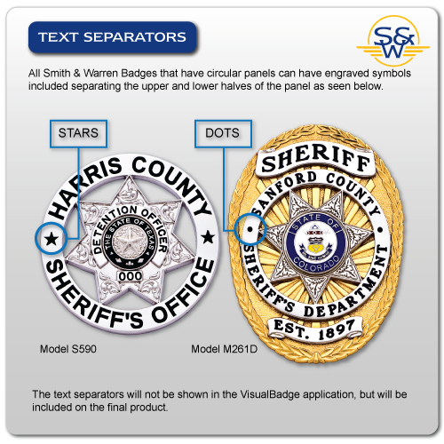 Text separators on badges